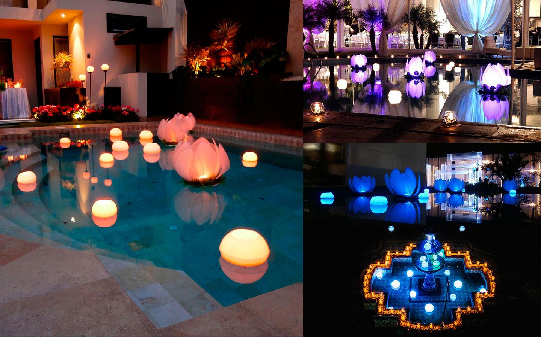 Velasperu ilumina con estilo for Velas flotantes piscina